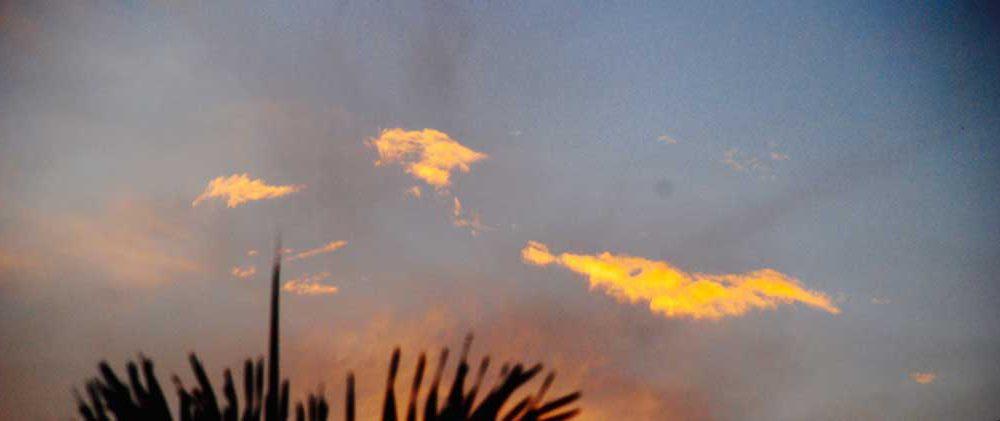 Og solen går atter igjen ned bak nabohuset